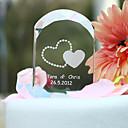 hesapli Pasta Tepesi Süsleri-Pasta Üstü Figürler Bahçe Teması Kalpler Klasik Çift Kristal Düğün Yıldönümü Çeyiz Görme ile Hediye Kutusu