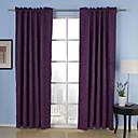 hesapli Pencere Perdeleri-Perdeler Perdeler Yatakodası Solid %100 Polyester Polyester Kabartılmış