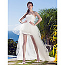 abordables Cajas de Música-Princesa Sin Tirantes Asimétrica Tul Vestidos de novia hechos a medida con Apliques por LAN TING BRIDE® / Vestidos Blancos