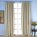 cheap Curtains Drapes-Rod Pocket Grommet Top Tab Top Double Pleat Two Panels Curtain Neoclassical, Embossed Solid Dining Room Polyester Material Curtains Drapes