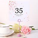 hesapli Yer Kartları ve Tutacakları-Yer kartları ve tutucuları kare masa numarası kartı kişiselleştirilmiş - çiçek yağmuru