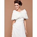 billige Bryllupsdekorasjoner-faux fur bryllup / spesiell anledning sjal