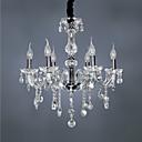povoljno Lusteri-qingming® europski kristalni luster dnevna soba, spavaća soba, studio, restoran, bar, prozirno staklo kristalna lampa za svijeću