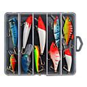 رخيصةأون طعم صيد الأسماك-10 pcs خدع الصيد طعم صيد جامد حقيبه طعم البلاستيك الجامد الصيد البحري صيد الأسماك في المياه العذبة باس الصيد