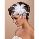 povoljno Cvijeće za vjenčanje-prekrasna vjenčanje tila pero svadbeni cvijet / gornji dio ženske odjeće / headpiece