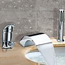 hesapli Banyo Küvet Muslukları-Küvet Muslukları - Şelale Yaygın Krom Roma Küveti İki Kolları Üç Delik