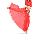 cheap Belly Dance Wear-Belly Dance Skirt Women's Training / Performance Chiffon Split Front Dropped Skirt