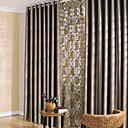 hesapli Karartma Perdeler-İki Panel Pencere Tedavi Modern Yatakodası Polyester Malzeme Blackout Perdeler Perdeler Ev dekorasyonu