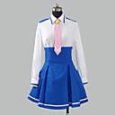 hesapli Anime Kostümleri-Esinlenen PrettyCure Saf Mutluluk Anime Cosplay Kostümleri Cosplay Takımları / Okul Üniformaları Kırk Yama Uzun Kollu Gömlek / Etek / Düğüm Uyumluluk Kadın's