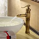 povoljno Osnove i konektori svjetla-Traditional Nadgradni umivaonik Jedan Ručka jedna rupa in Antique Brass Kupaonica Sudoper pipa