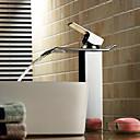 billige Vandhaner til badeværelset-sprinkle® badeværelse vask vandhane - vandfald krom beholder et hul enkelt håndtag et hul
