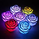 billige Festdekor-rose blomst ledet lys natt skiftende farger skiftende romantisk lys lys lampe