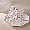 """hesapli Düğün Hediyeleri-Z şeklinde katlanır Düğün Davetiyeleri-Davet Kartları İnci Kağıdı 6 ½""""×4 ½"""" (16.6*11.5cm)"""