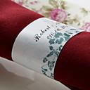 hesapli Fanlar ve Plaj Şemsiyeleri-Düğün Peçeteler - 50pcs Peçete Yüzükleri Düğün Yıldönümü Doğumgünü Nişan Partisi Çeyiz Görme Gençlik Partisi Çiçek Teması