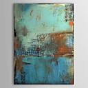 abordables Cuadros Abstractos-Pintura al óleo pintada a colgar Pintada a mano - Abstracto Clásico Tradicional Un Panel