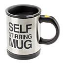 זול ספלים וכוסות-קפה ערבוב אוטומטי / ספל drinkware נירוסטה כוס קפה עצמית ערבוב כפתור ספל חשמלי