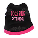 hesapli Düğün Dekorasyonları-Köpek Tişört Köpek Giyimi Kalp Harf & Sayı Pamuk Kostüm Evcil hayvanlar için
