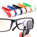 cheap Special Deals-1 pc Eyeglasses Cleaner Portable / Multi-function for Portable / Multi-function Microfiber / ABS - Red / Green / Blue