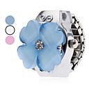 abordables Anillos-Mujer Reloj de Anillo Japonés Cuarzo Plata Reloj Casual damas Flor Dibujos - Blanco Azul Rosa Un año Vida de la Batería / SSUO SR626SW