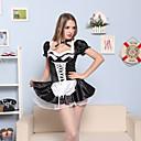 hesapli Seksi Kostümler-Üniformalar Cosplay Kostümleri Kadın's Hizmetçi Üniformaları Cadılar Bayramı Karnaval Yeni Yıl Festival / Tatil Saten Karnaval Kostümleri
