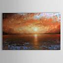 preiswerte Landschaften-Handgemalte Landschaft Horizontal Segeltuch Hang-Ölgemälde Haus Dekoration Ein Panel