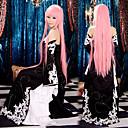 abordables Pelucas de Cosplay de Video Juegos-Inspirado por Vocaloid Megurine Luka Vídeo Juego Disfraces de cosplay Trajes Cosplay Vestidos Retazos Sin Mangas Vestido Mangas