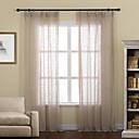 halpa Harsoverhot-Läpinäkyvät verhot Shades Living Room Yhtenäinen Pellava / polyesteriseos Painettu