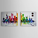 cheap Abstract Paintings-Oil Painting Hand Painted - Landscape Classic Traditional Canvas