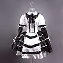 זול שמלות לוליטה-לוליטה שמלות בגדי ריקוד נשים בנות מֶשִׁי Japanese תחפושות Cosplay טלאים שרוול ארוך אורך קצר