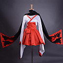 ieftine Accesorii Anime Cosplay-Inspirat de Inu x BOKU SS Ririchiyo Shirakiin Anime Costume Cosplay Costume Cosplay Kimono Peteci Manșon Lung Fustă Centură Kimono Coat