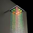hesapli LED Duş Başlıkları-bakır led ışık duş yağmur duş başlığı