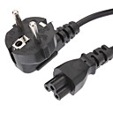 cheap Laptop Adapters-Power Cable Standard EU Power Extension Cable Black(1.2M)