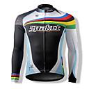 Χαμηλού Κόστους Βρύσες Ντουζιέρας-SPAKCT Γιούνισεξ Μακρυμάνικο Φανέλα ποδηλασίας Ριγέ Ποδήλατο Μπολύζες, Αντιανεμικό Αναπνέει Διατηρείτε Ζεστό 100% Πολυέστερ / Γρήγορο Στέγνωμα / Γρήγορο Στέγνωμα / Εμπειρογνώμονας