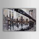 cheap Landscape Paintings-Oil Painting Hand Painted - Landscape Classic Traditional Canvas