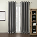 cheap Blackout Curtains-Blackout Curtains Drapes Living Room Solid Colored 100% Polyester Polyester