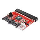 hesapli USB-100/133 seri ata dönüştürücü adaptör + kablosu SATA için 0.2m 0.6ft yeni 3.5 ide hdd