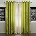 cheap Bath Towel Set-Rod Pocket Grommet Top Tab Top Double Pleat Two Panels Curtain Modern, Jacquard Solid Polyester Material Curtains Drapes Home Decoration