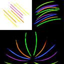 abordables Trucos de Magia-100PCS noctilucous Glow Stick mezclado al azar Puntales color concierto