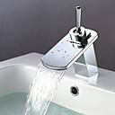 billige Hundetøj-Bådeværelsesvask Vandhaner - Moderne - DI Messing - Vandfald (Krom)