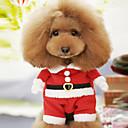 זול עוגיות כלי-כלב תחפושות בגדים לכלבים אנימציה אדום כותנה תחפושות עבור קיץ & אביב חורף בגדי ריקוד גברים בגדי ריקוד נשים קוספליי חג מולד