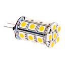 preiswerte LED Glühbirnen-370 lm G4 LED Mais-Birnen T 24 Leds SMD 5050 Warmes Weiß DC 12V