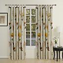 preiswerte Fenstervorhänge-Vorhänge drapiert Wohnzimmer Zeitgenössisch 100% Baumwolle Baumwolle Druck