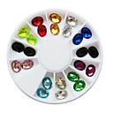 ieftine Glitter unghii-24 pcs Unghiul de bijuterii / Glitter & Poudre / Seturi de decorare Punk / Nuntă / Modă Încântător Zilnic Nail Art Design