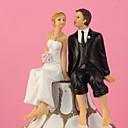hesapli Pasta Tepesi Süsleri-Pasta Üstü Figürler Klasik Tema Klasik Çift Reçine Düğün ile Hediye Kutusu