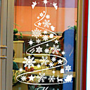 cheap Christmas Home Textiles-Window Film & Stickers Decoration Classical Trees / Leaves PVC / Vinyl Window Sticker / Kids Room / Living Room / Shop / Cafe