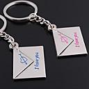preiswerte Customized Schlüsselanhänger-Individuelle Gravur Geschenk ein Paar Umschlag Shaped Liebhaber Schlüsselanhänger