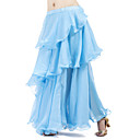 cheap Belly Dance Wear-Belly Dance Skirt Women's Training Chiffon Tier / Ruffles Skirt / Ballroom