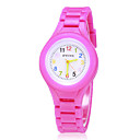 cheap Dinnerware-Women's Wrist Watch Quartz Silicone Band Candy color Fashion Black / White / Blue - Purple Rose Blue