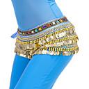 ieftine Fâșie Becuri LED-Dans din Buric Eșarfe Pentru Dans Din Buric Pentru femei Antrenament Poliester Mărgele / Monede Șalul de Șolduri pentru Dans din Buric