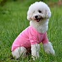 billige Hundetøj-Hund T-shirt Hundetøj Ensfarvet Gul Rød Grøn Blå Lys pink Bomuld Kostume For kæledyr